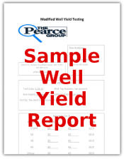 The pearce Group Home Inspection Report - Sample Well Yield